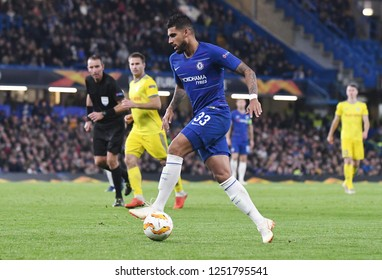 LONDON, ENGLAND - OCTOBER 25, 2018: Emerson Palmieri dos Santos of Chelsea pictured during the 2018/19 UEFA Europa League Group L game between Chelsea FC and BATE Borisov at Stamford Bridge.