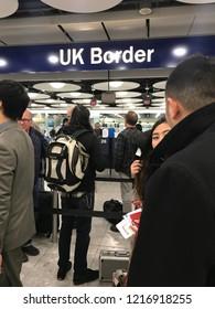 London, England - October 31, 2018: Heathrow Airport, London, United Kingdom, Europe