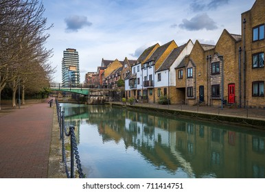 London, England - Ornamental Canal at St Katharine's & Wapping