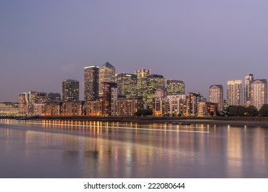 LONDON, ENGLAND - SEPT 22: Canary Wharf on the September 22nd, 2014 in London,England.Canary Wharf is the HQ of major banks including HSBC Barclays, and Citigroup,