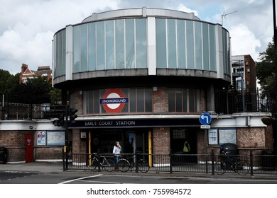 London, England -September 17, 2017: Earls Court Underground Station