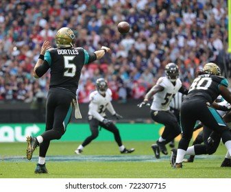 LONDON, ENGLAND - SEPTEMBER 24: Blake Bortles quarterback for Jacksonville Jaguars during the NFL match between The Jacksonville Jaguars and The Baltimore Ravens