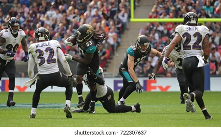 LONDON, ENGLAND - SEPTEMBER 24: Chris Ivory running back for Jacksonville Jaguars during the NFL match between The Jacksonville Jaguars and The Baltimore Ravens
