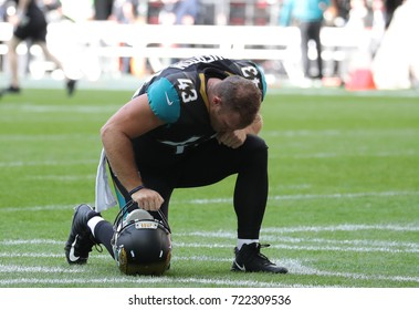 LONDON, ENGLAND - SEPTEMBER 24:  I'Tavius Mathers of Jacksonville Jaguars before the NFL match between The Jacksonville Jaguars and The Baltimore Ravens at Wembley Stadium on September 24, 2017