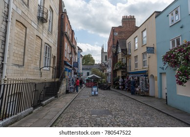LONDON, ENGLAND - SEPTEMBER 28, 2017: Cityscape in Windsor. Local Architecture in England.