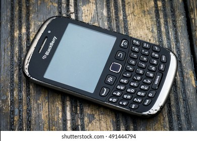 London, England - September 30, 2016: Blackberry Smartphone, As of September 2016 Blackberry Limited has announced that it will no longer make Smartphones due to poor sales worldwide.