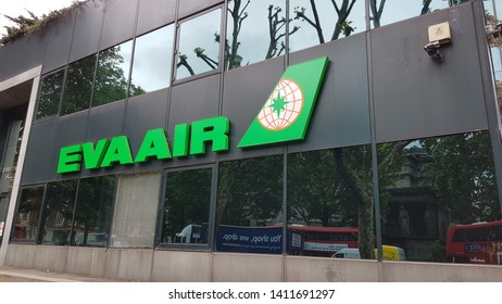 London, England, UK 05/29/2019 A view of EVA AIR office in London.