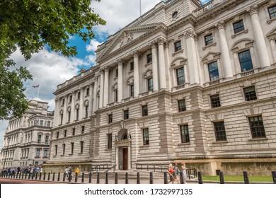 London, England, UK - 5.15.2020: Her Majesty's Treasury