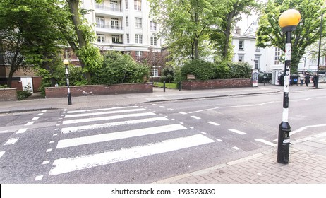 LONDON, ENGLAND, UK: Abbey Road Crossing outside Abbey Road studios where the homonymous album was recorded in 1969