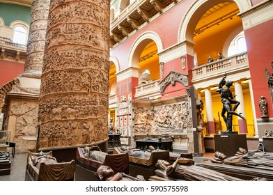 LONDON, ENGLAND, UK - APRIL 29, 2009: The Cast Courts in the Victoria and Albert Museum in London