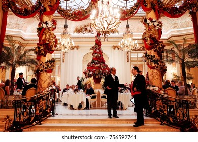 LONDON, ENGLAND, UK - December 15, 2014 : Christmas Decoration of The Ritz London