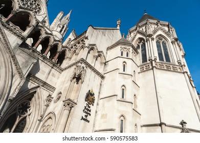 LONDON, ENGLAND, UK - FEBRUARY 3, 2011: High Court in London