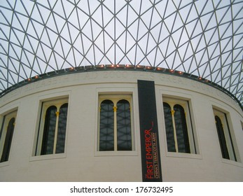 LONDON, ENGLAND, UK - MARCH 08, 2008: The new Great Court at the British Museum was designed by Lord Norman Foster