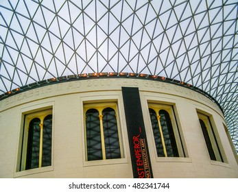LONDON, ENGLAND, UK - MARCH 08, 2008: The new Great Court at the British Museum was designed by Lord Norman Foster (HDR)