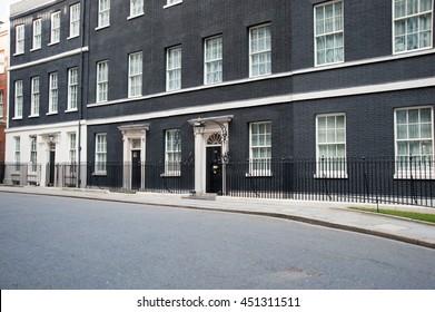 LONDON, ENGLAND, UK - MARCH 15, 2010: 10 Downing Street, London, England, UK