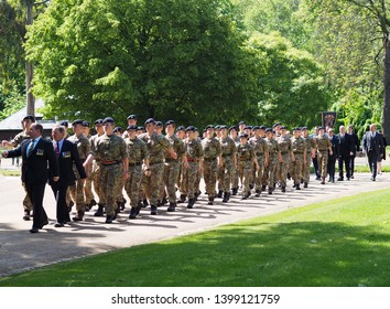 London, England, U.K.- May 12, 2019: 94th annual parade of the Combined Cavalry Old Comrades Association in Hyde park London