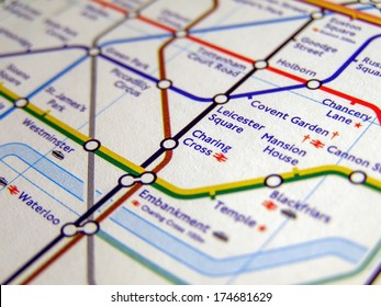 LONDON, ENGLAND, UK - NOVEMBER 04, 2007: Tube map of the London Underground subway lines