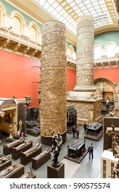 LONDON, ENGLAND, UK - OCTOBER 27, 2013: The Cast Courts in the Victoria & Albert Museum in London