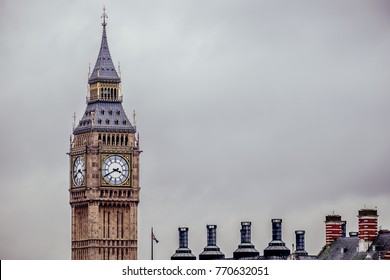 London, England, United Kingdom - February 14 2015 - Big Ben is the nickname for the Great Bell of the clock at the north end of the Palace of Westminster in London.