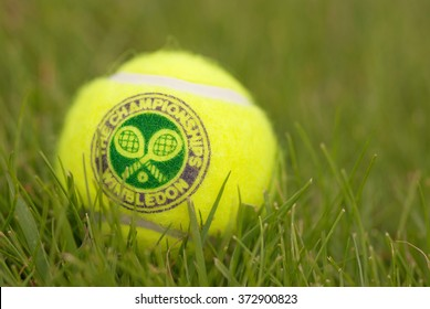 LONDON, ENGLAND-JUNE 22, 2009: Official Tennis ball for tradidional tournament at Wimbledon, London, UK