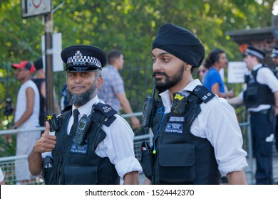 London, England/United Kingdom - August 26th 2019: Notting hill Carnival police officers