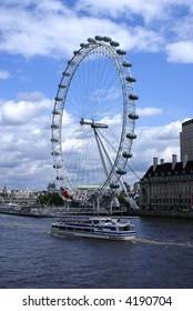 The London Eye Millennium Wheel in the United Kingdom