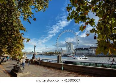 The London Eye on River