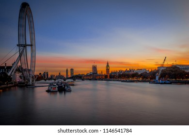 London Eye , Sunset
