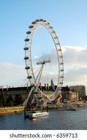 London Eye with Thames River
