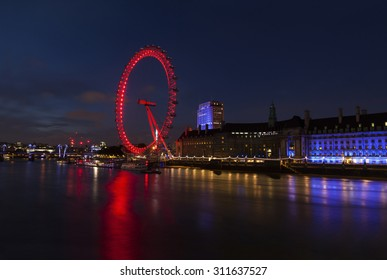 London Eye and Thames River panorama