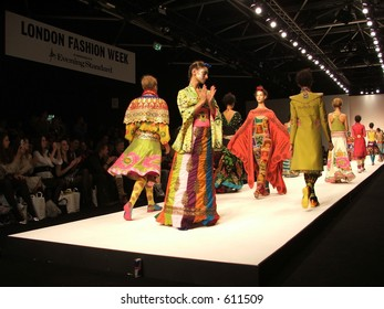 London Fashion Week Spring/ Summer 2006. Manish Arora collection.