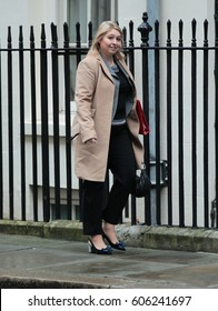 LONDON - FEB 07, 2017: Karen Bradley MP Secretary of State for Culture, Media and Sport attends a cabinet meeting at Downing Street on Feb 07, 2017 in London
