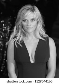 LONDON - FEB 08, 2015: ( Image digitally altered to monochrome ) Reese Witherspoon attends the EE British Academy Film Awards at The Royal Opera House
