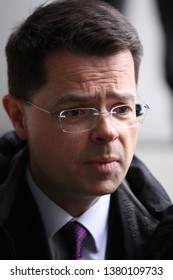 LONDON - FEB 10, 2019: James Brokenshire MP Conservative Party politician serving as Communities Secretary seen at the BBC studios for the Andrew Marr Show