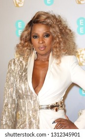 LONDON - FEB 10, 2019: Mary J Blige attends the 72nd British Academy Film Awards at the Royal Albert Hall