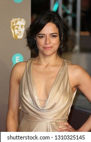 LONDON - FEB 10, 2019: Michelle Rodriguez attends the 72nd British Academy Film Awards at the Royal Albert Hall