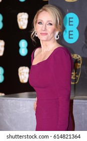 LONDON - FEB 12, 2017: J.K. Rowling attends The EE British Academy Film Awards (BAFTA) at the Royal Albert Hall on Feb 12, 2017 in London