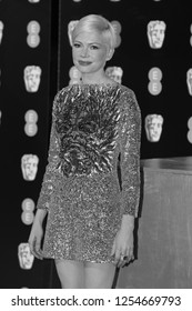 LONDON - FEB 12, 2017:  Michelle Williams attends The EE British Academy Film Awards (BAFTA) at the Royal Albert Hall