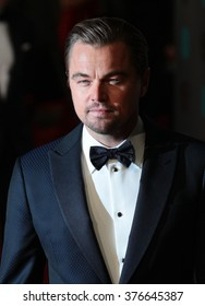 LONDON - FEB 14, 2016: Leonardo DiCaprio attends the EE Bafta British Academy Film Awards at the Royal Opera House on Feb 14, 2016 in London