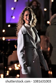 LONDON - FEB 14, 2018: Leona Lewis seen rehearsing for the BBC One Show at the BBC Studios