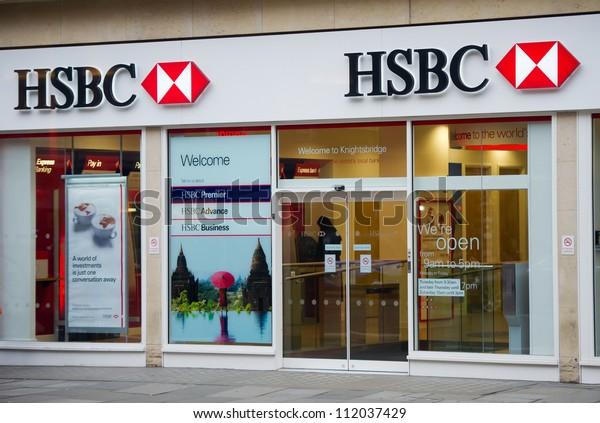 London Feb 17 Hsbc Bank Branch Stock Photo (Edit Now) 112037429