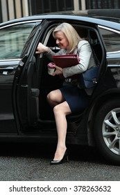 LONDON - FEB 2, 2016: Liz Truss Secretary of State for Environment seen at Downing Street on Feb 2, 2016 in London