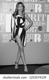 LONDON - FEB 22, 2017: Abigail Clancy attends The BRIT Awards at The O2