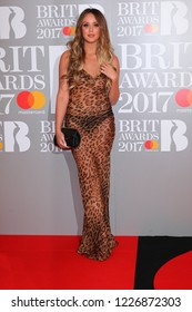 LONDON - FEB 22, 2017: Charlotte Crosby attends The BRIT Awards at The O2 in London