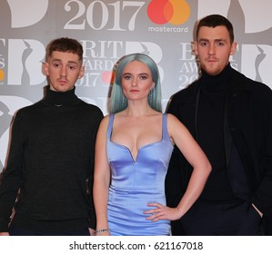LONDON - FEB 22, 2017: Clean Bandit attend The BRIT Awards at The O2