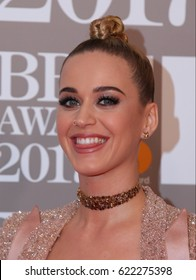LONDON - FEB 22, 2017: Katy Perry attends The BRIT Awards at The O2