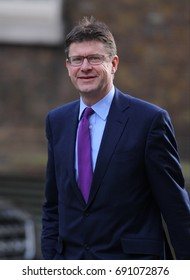 LONDON - FEB 28, 2017: Secretary of State for Business Greg Clark MP attends a cabinet meeting at 10 Downing Street in London