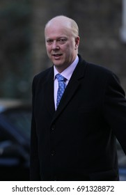 LONDON - FEB 28, 2017: Transport Secretary Chris Grayling attends a cabinet meeting at 10 Downing Street in London