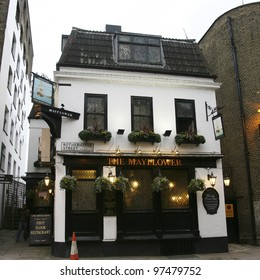 LONDON - FEB 5 : Exterior of pub, for drinking and socializing, focal point of the community, on Feb 5, 2011, London, UK. Pub business, now about 53,500 pubs in the UK, has been declining every year
