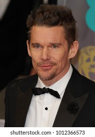 LONDON - FEB 8, 2015: Ethan Hawke attends the EE British Academy Film Awards at The Royal Opera House in London